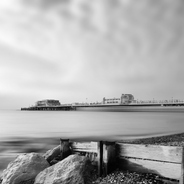 """Worthing Beach West Sussex England"" stock image"