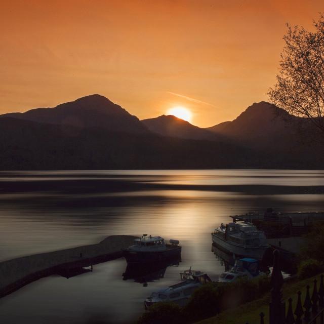 """Loch Lomond Scotland"" stock image"