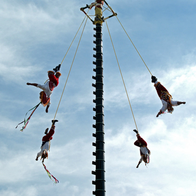 """""""Mexican acrobats."""" stock image"""