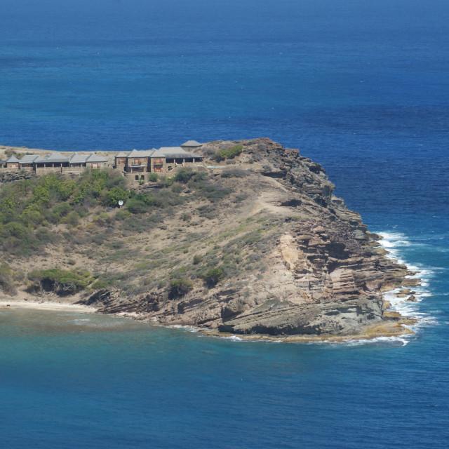 """Antigua shoreline."" stock image"