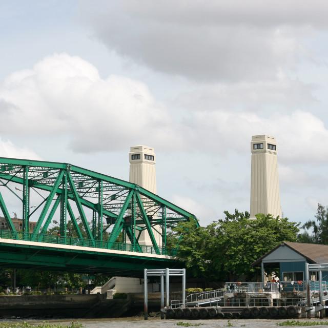 """Phra Phuttha Yodfa Bridge"" stock image"