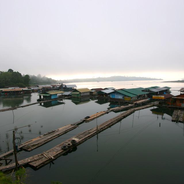 """""""Sangkhlaburi in Kanchanaburi, West of Thailand."""" stock image"""