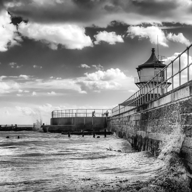 """Harwich Lighthouse Museum and Seafront"" stock image"