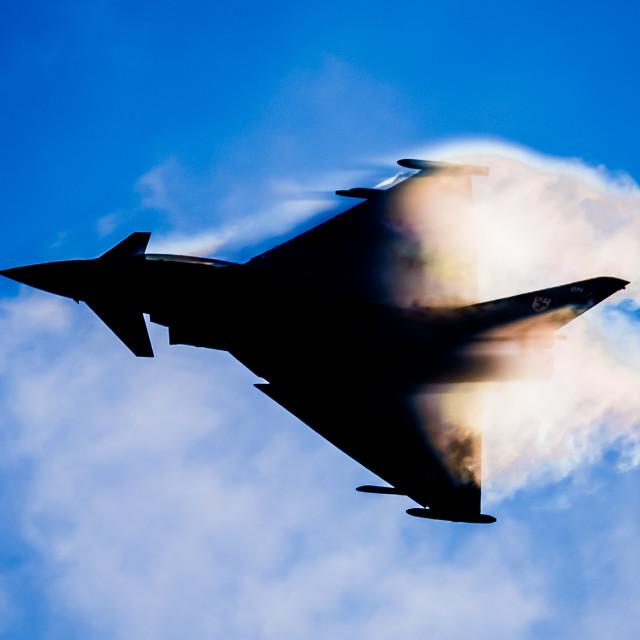 """Typhoon Silhouette"" stock image"