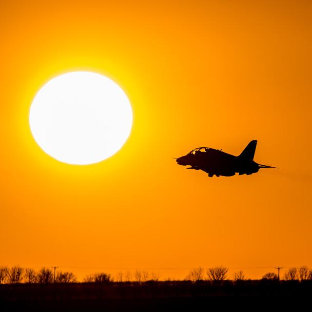 """Reds Sunset"" stock image"