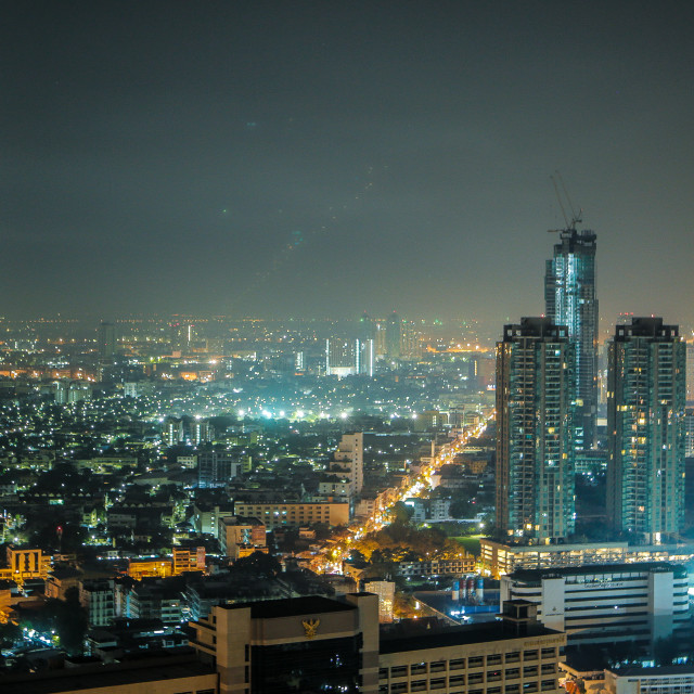 """Watching over Bangkok"" stock image"