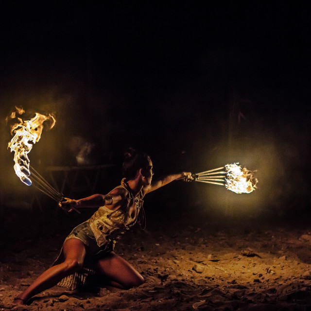 """""""Playing with fire"""" stock image"""