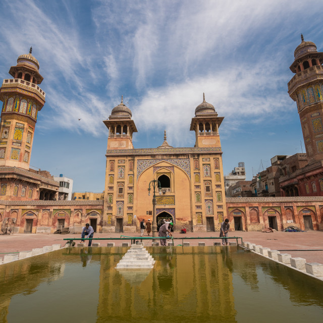 """Wazir Khan Mosque"" stock image"