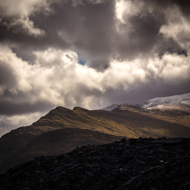 """Snowdonian Light"" stock image"