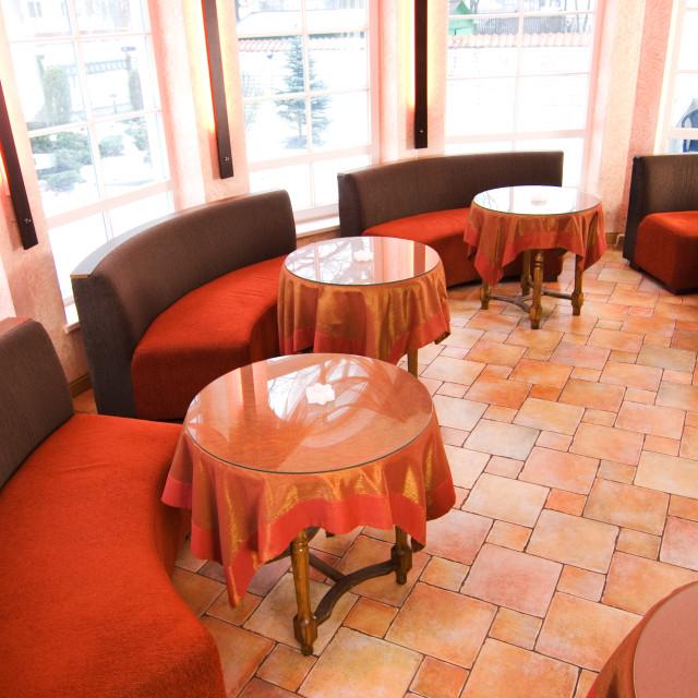 """""""Classic restaurant interior"""" stock image"""