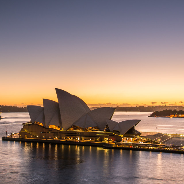 """Good morning Sydney Opera House"" stock image"