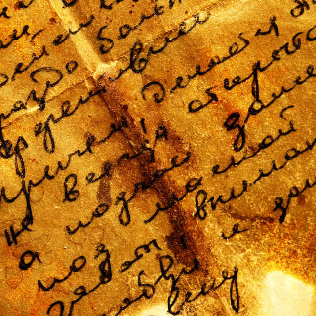 """Old letter"" stock image"