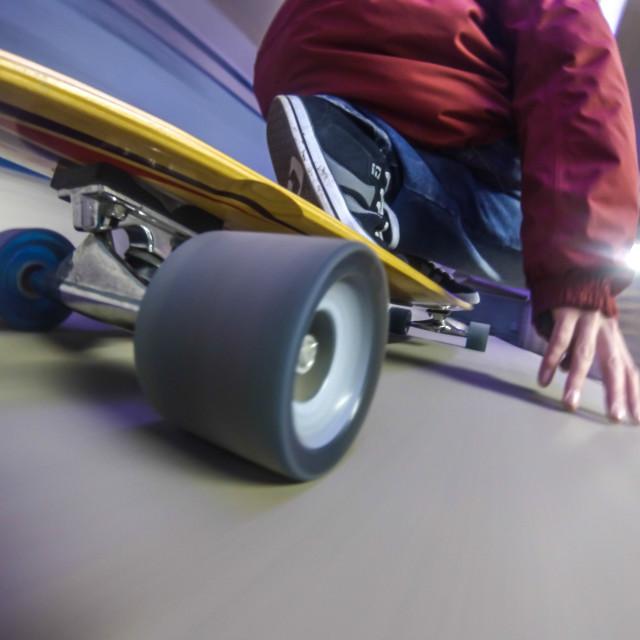 """Longboarding"" stock image"