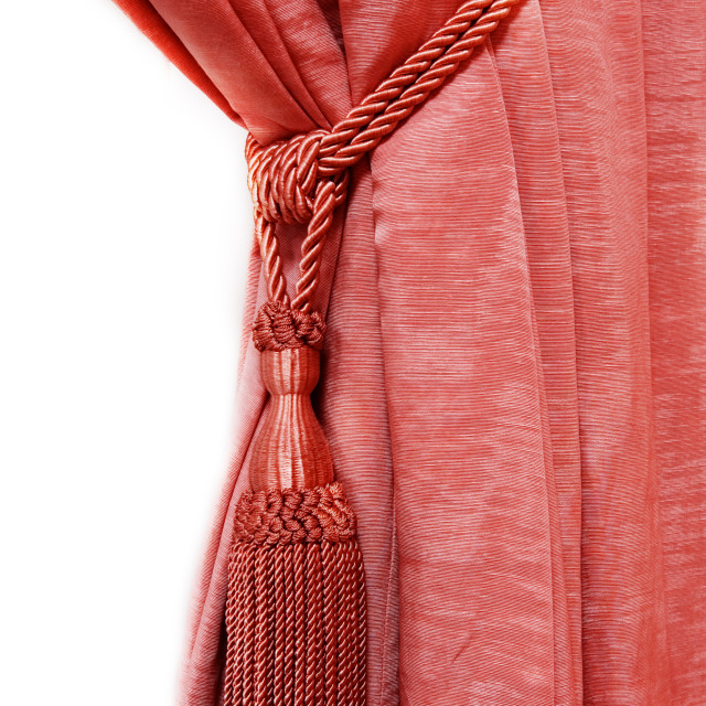 """""""Red luxury curtain"""" stock image"""