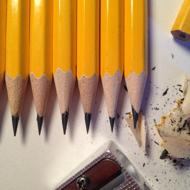 """Sharpened pencils"" stock image"