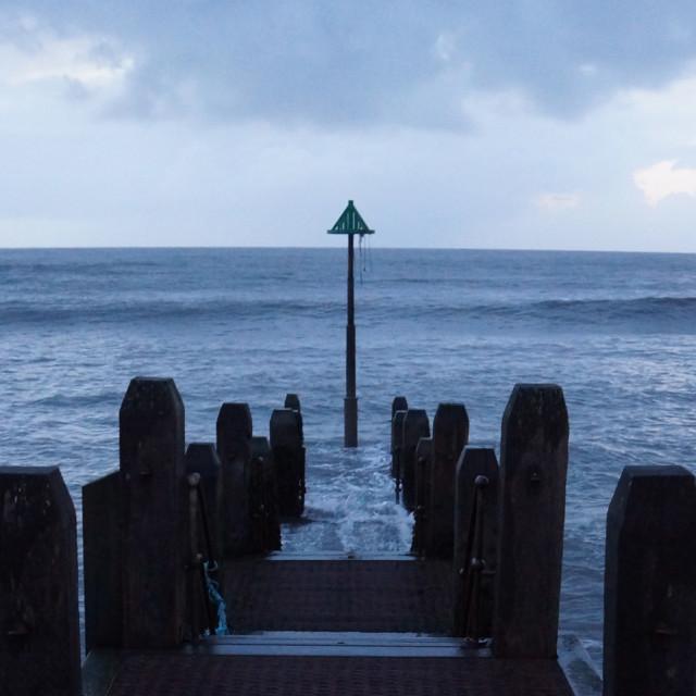 """Aberystwyth pier"" stock image"