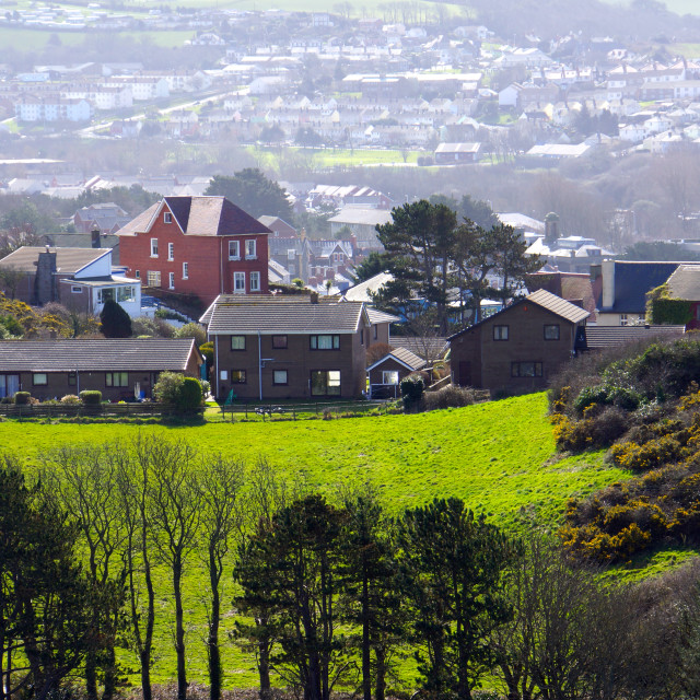 """Aberystwyth landscape"" stock image"