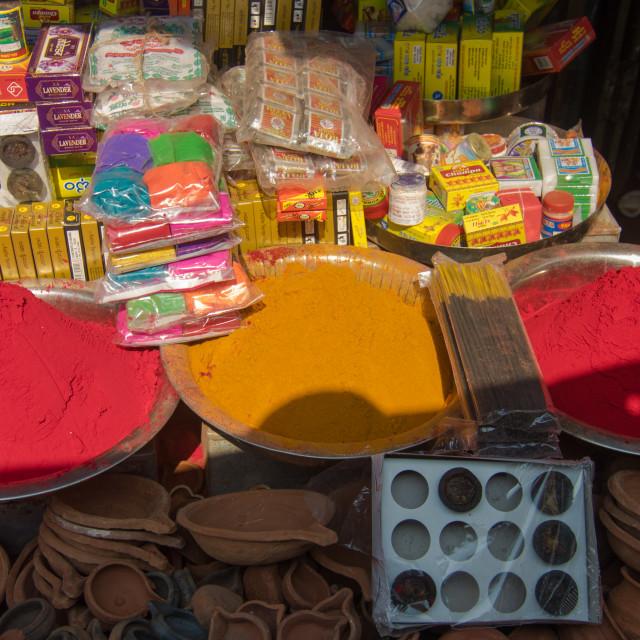"""Mysore Market"" stock image"