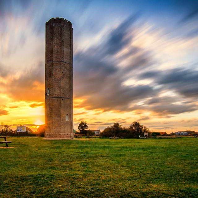 """Walton On Naze Tower Sunset"" stock image"