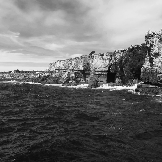"""Sea view and rocks"" stock image"