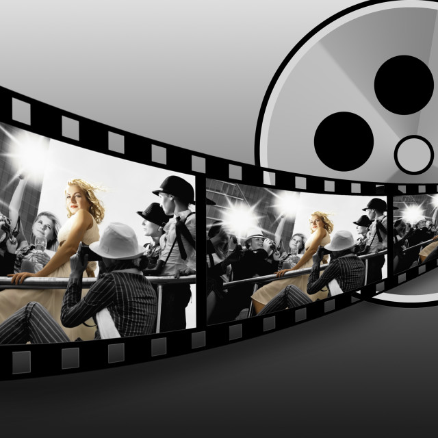 """Filmstrip collage .."" stock image"