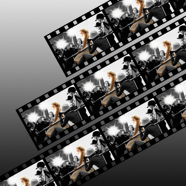 """Filmstrip collage"" stock image"
