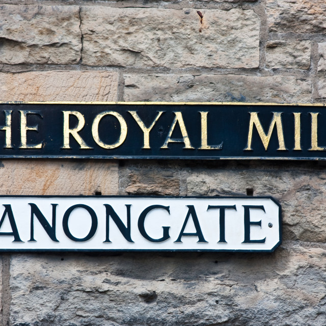 """Royal Mile"" stock image"