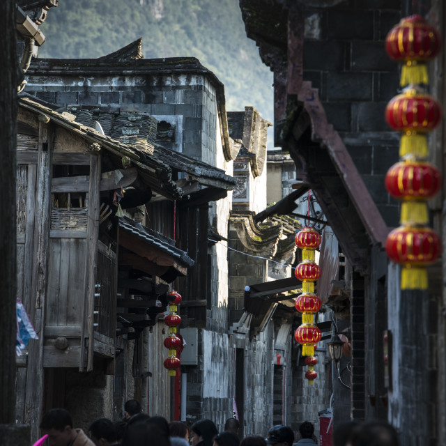 """""""Chinese traditional street during the Spring Festival."""" stock image"""