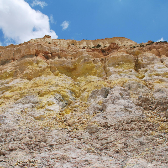 """""""Volcano crater, Nisyros"""" stock image"""
