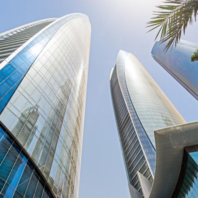 """Abu Dhabi towers"" stock image"