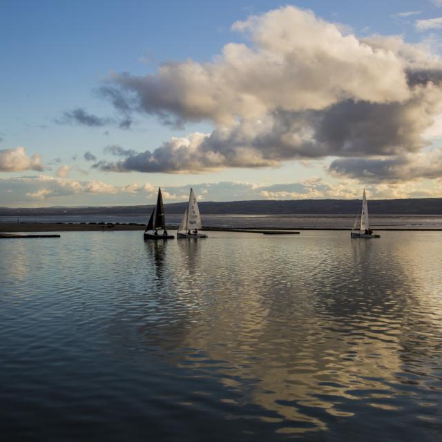 """Serenity At West kirby Marina"" stock image"