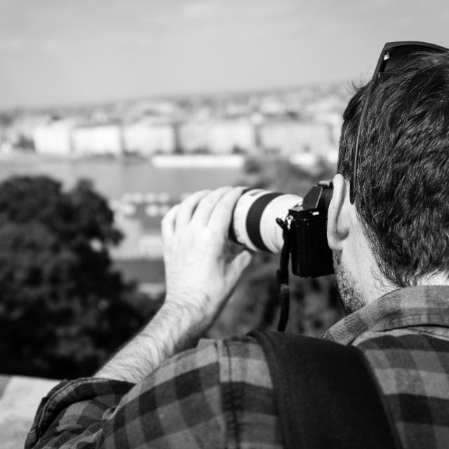 """Photographer in Budapest"" stock image"