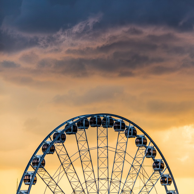 """Big Wheel, Big Sky"" stock image"