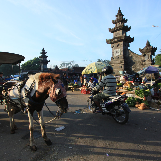 """Borobudur Traditional Market"" stock image"