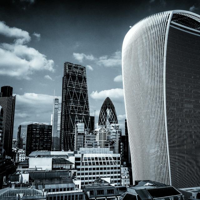 """London Skyline, toned"" stock image"