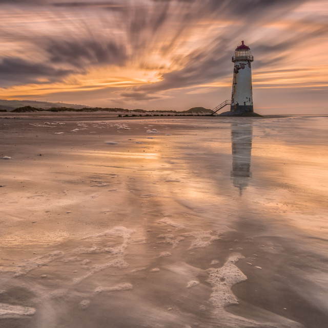 """Goodnight Talacre"" stock image"