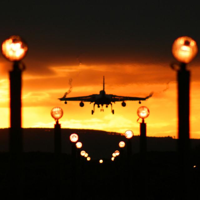 """""""Tornado Jet Landing"""" stock image"""