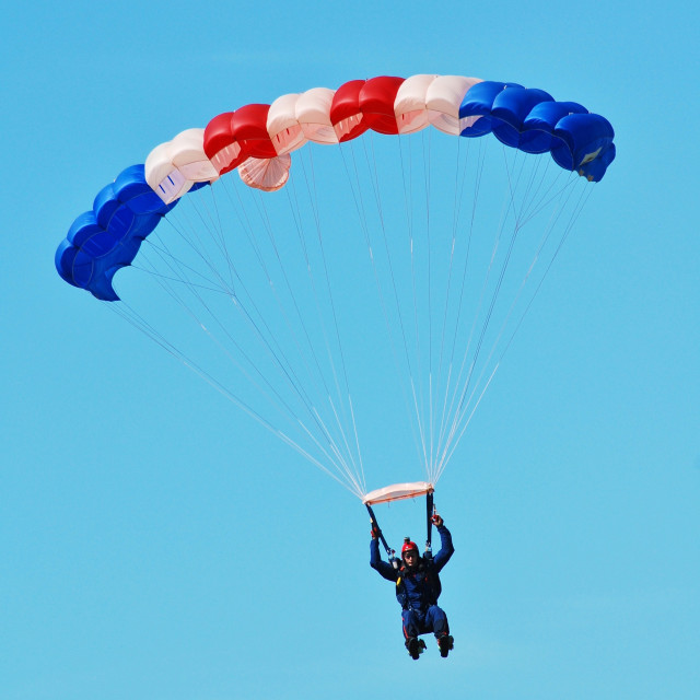 """The Falcons parachute team"" stock image"