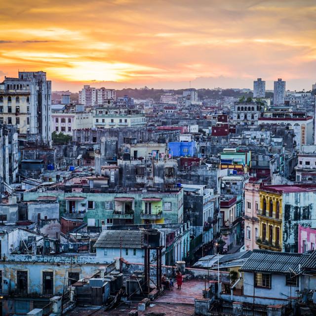 """Havana Skyline"" stock image"