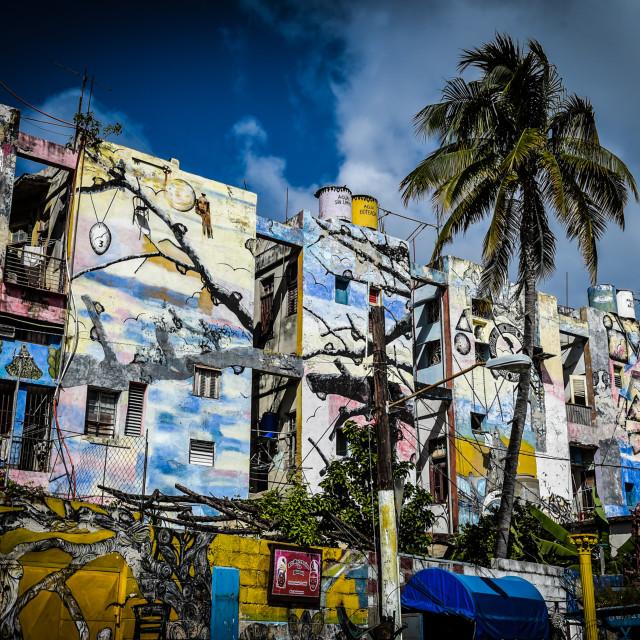 """Cuba Mural"" stock image"