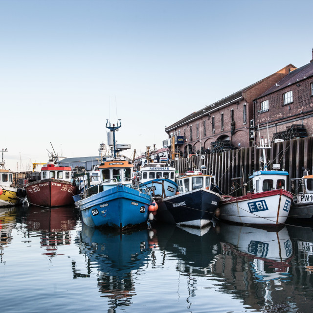 """Scarborough Fishing Boats"" stock image"
