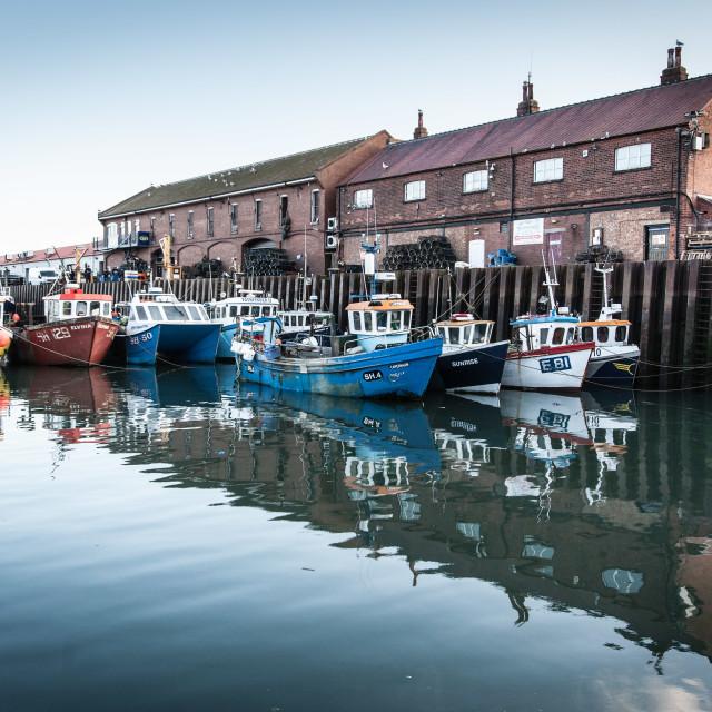 """Scarborough Fishing Boats"" stock image"