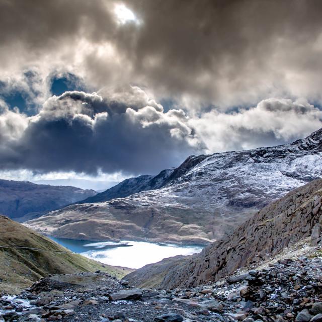 """Lakes of Snowdonia"" stock image"