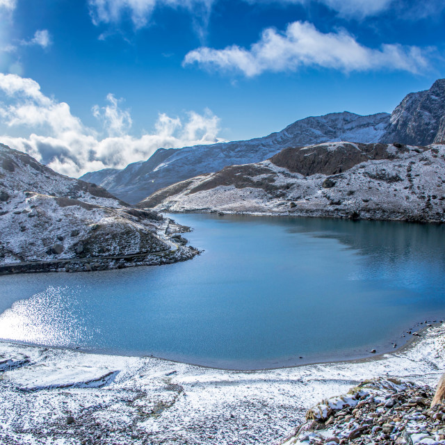 """Lakes of Snowdonia National Park"" stock image"