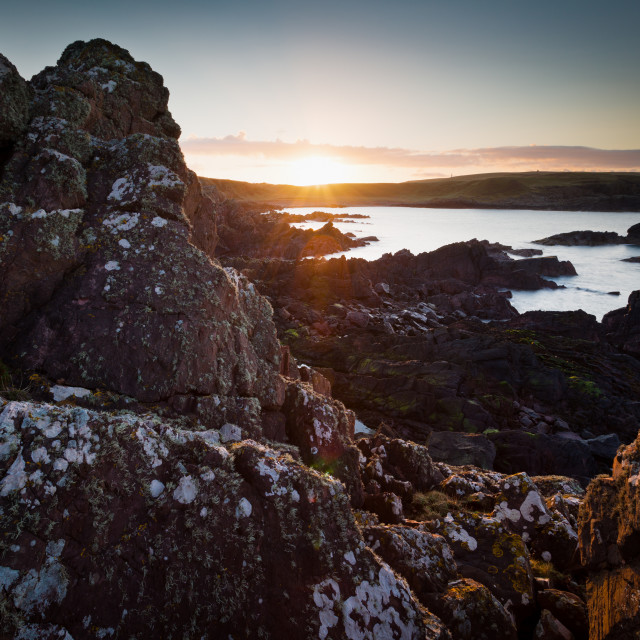"""Mull of Galloway Sunrise"" stock image"
