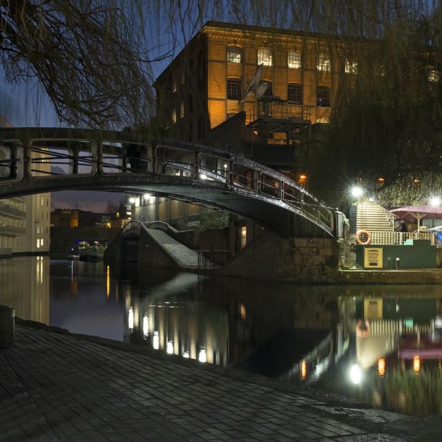 """Camden Lock, London"" stock image"