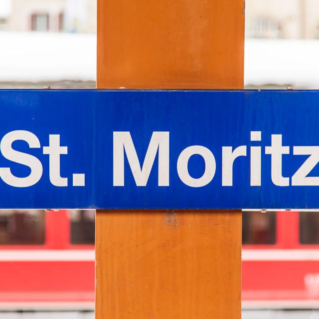 """St. Moritz Train Station"" stock image"