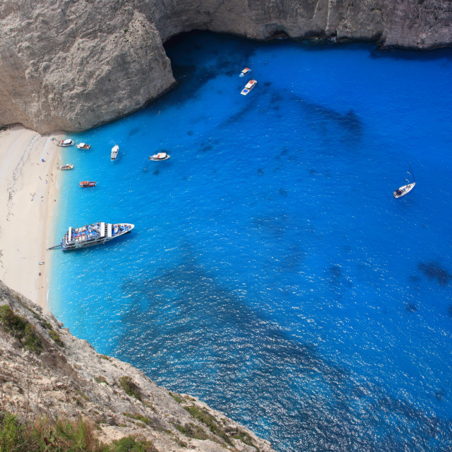"""Aerial view on Zakynthos Greece"" stock image"