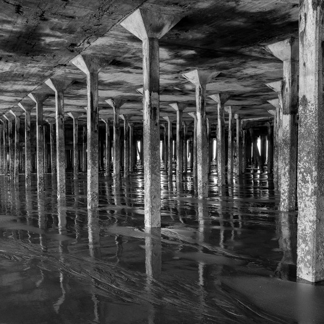 """Monochrome Pillars"" stock image"