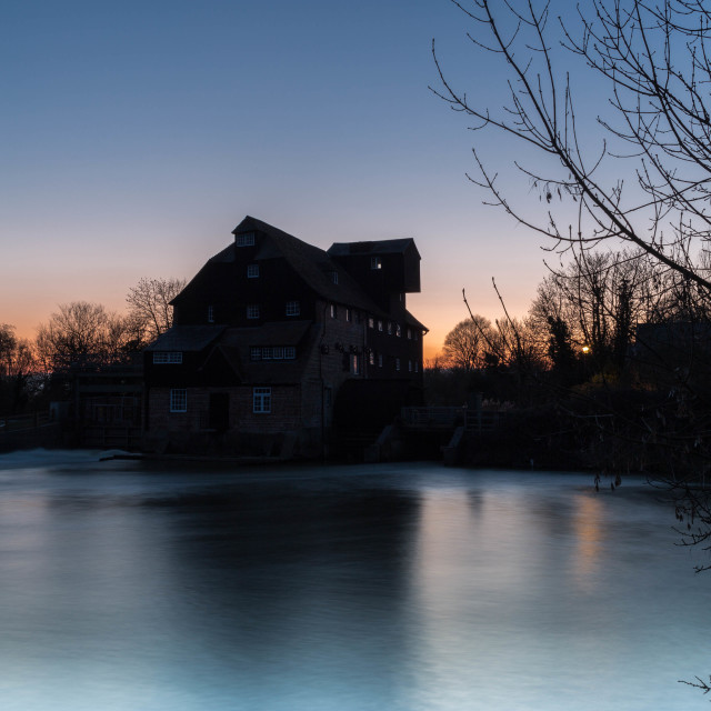 """Houghton Mill Sunset"" stock image"